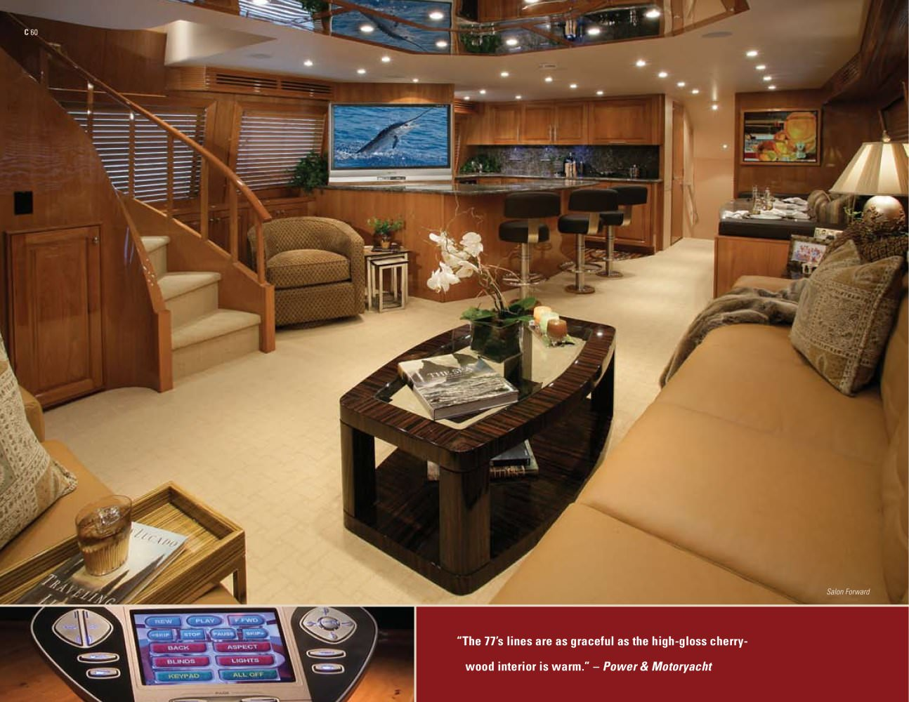 """Hatteras 77 Convertible - 20179 """"The 77's lines are as graceful as the ..."""