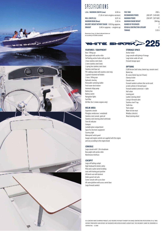 225 Gb White Shark Pdf Catalogs Documentation Boating Brochures