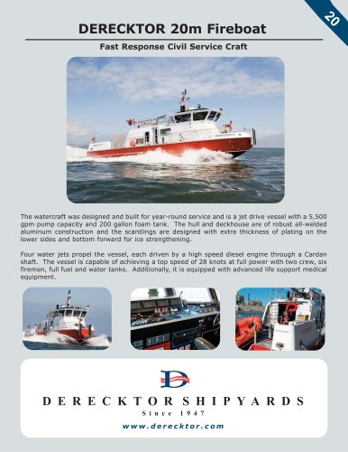 DERECKTOR 20m Fireboat
