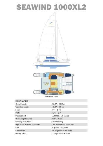 Seawind 1000XL2 Standard Specifications - Seawind Caramarans - PDF