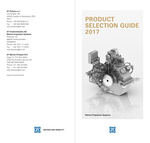 Product Selection Guide 2017