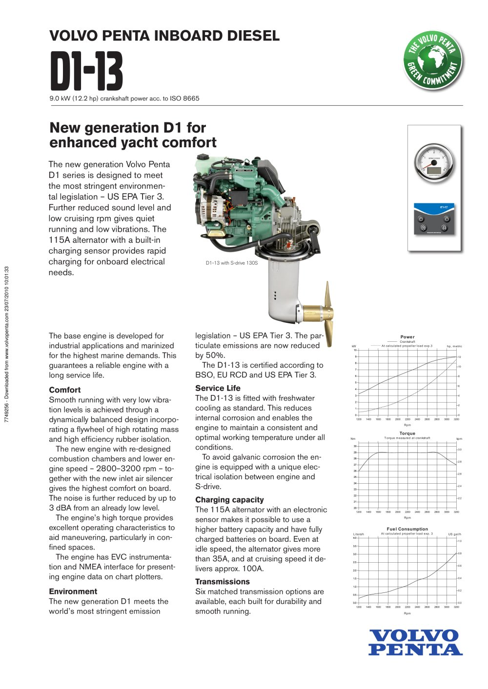 D1 13 Volvo Penta Pdf Catalogues Documentation Boating Brochures 2000 Wiring Diagram 1 2 Pages