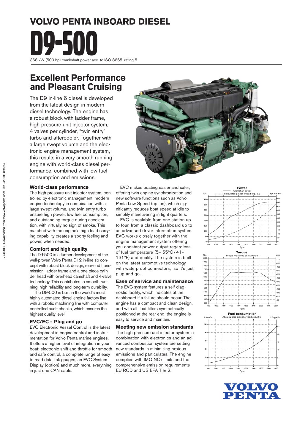 Volvo Penta D9-500 - 1 / 2 Pages