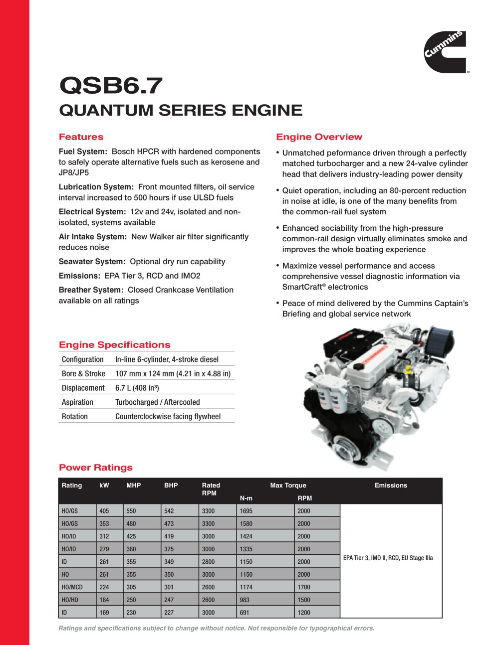 QSB6.7 Quantum Series Engine - 1 / 2 Pages
