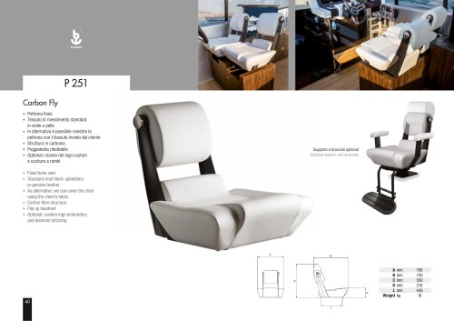 Besenzoni Helm Seat P 251 Carbon fly
