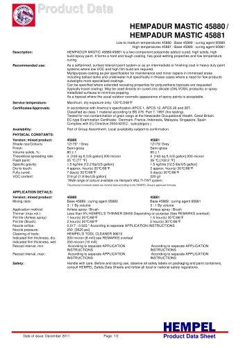 HEMPADUR MASTIC 45880HEMPADUR MASTIC 45880