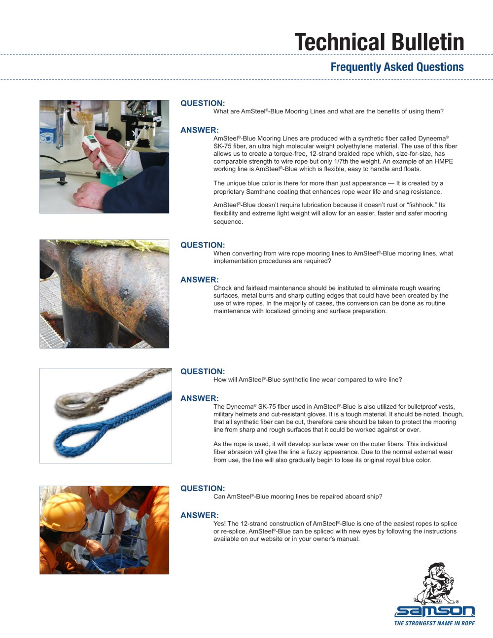 AmSteel-Blue - Samson - PDF Catalogues | Documentation | Boating ...