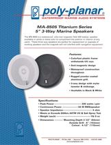 "MA-8505 Titanium Series 5"" 3-Way Marine Speakers"