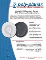 "MA-8506 Titanium Series 6"" 3-Way Marine Speakers"