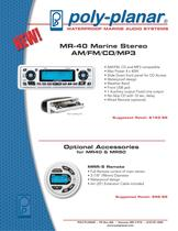 MR-40 Marine Stereo AM/FM/CD/MP3