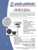 "Poly-Planar MA3013 3"" Round Flush Mount Speaker"