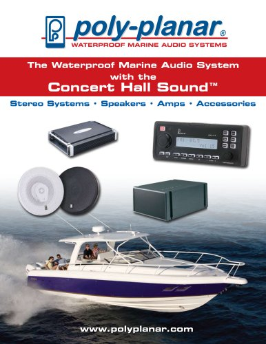 Poly-Planar Marine Waterproof Marine Audio Systems Catalog
