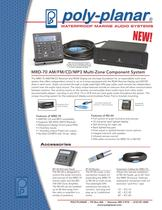 Poly-Planar MRD-70 AM/FM/CD/MP3 Multi-Zone Component System