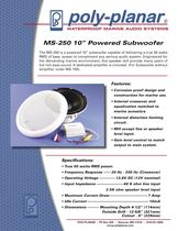 Poly-Planar MS-250 10� Powered Subwoofer