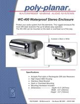 Poly-Planar WC-400 Waterproof Stereo Enclosure