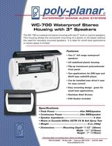 Poly-Planar WC-700 Waterproof Stereo Housing with 3� Speakers