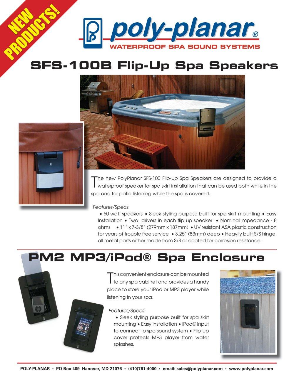 Sfs 100b Flip Up Spa Speakers Poly Planar Pdf Catalogs