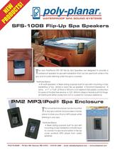 SFS-100B Flip-Up Spa Speakers