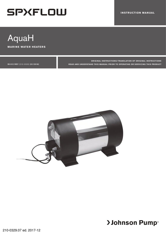 AquaH - marine water heater - SPX FLOW Johnson Pump® - PDF ... : storlek varmvattenberedare : Inredning