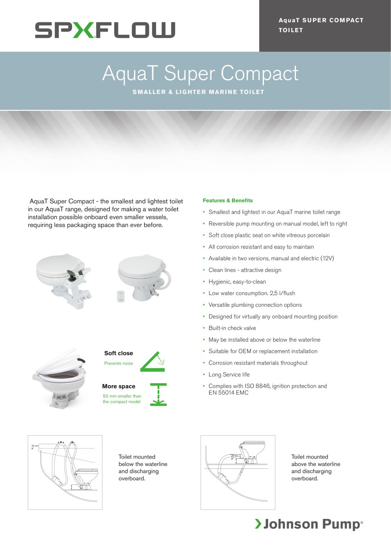 Johnson manual toilet array marine lavatory systems aquat super compact marine toilet spx rh pdf nauticexpo com fandeluxe Images