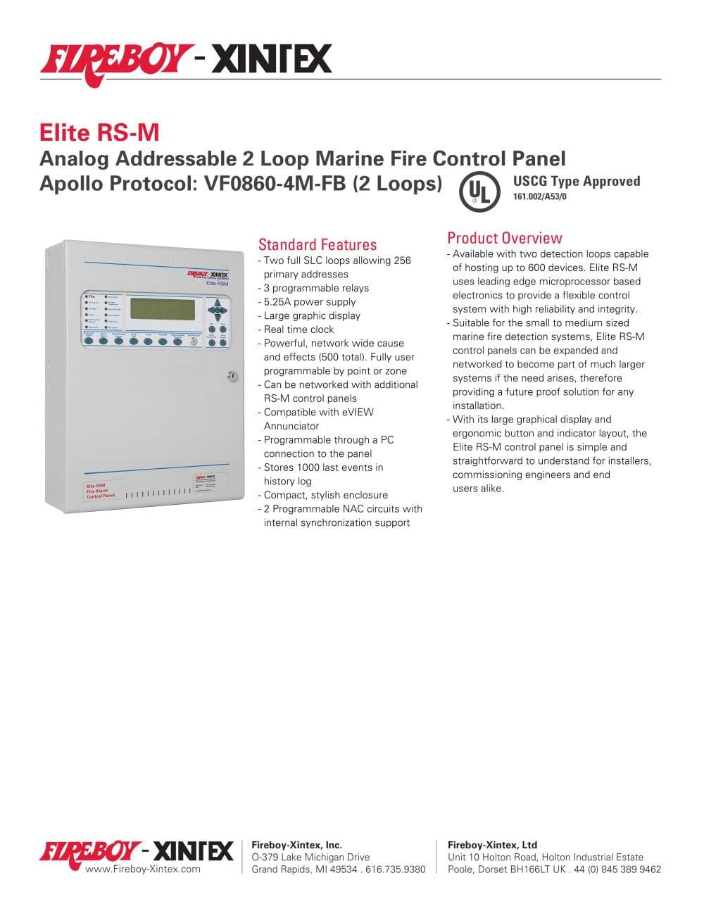 Elite RSM Fire Alarm Control - Fireboy - Xintex - PDF Catalogues ...