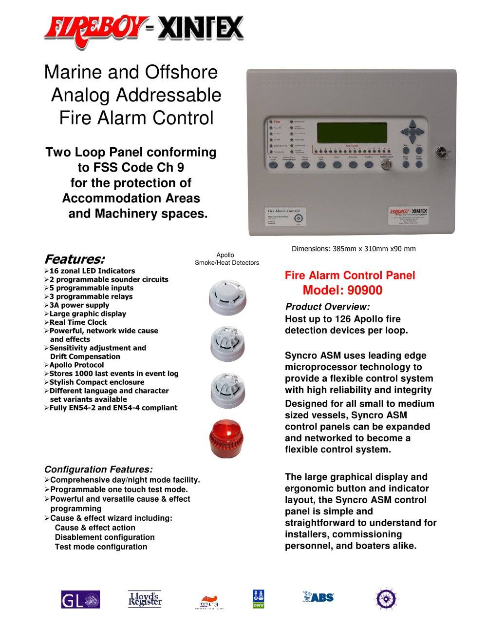 Fire Alarm Control for IMO/Solas approved vessels - Fireboy - Xintex ...