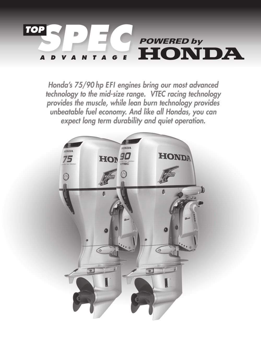 Honda\'s new 75/90HP EFI Engines - Honda Marine - PDF Catalogues ...