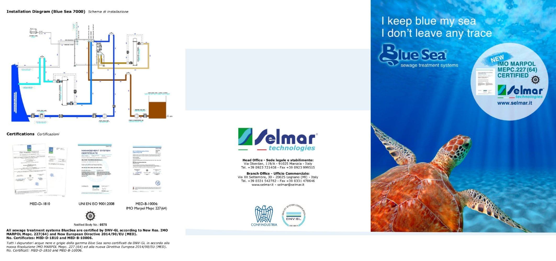 Blue Sea Sewage Treatment Systems Imo Marpol Mepc 22764