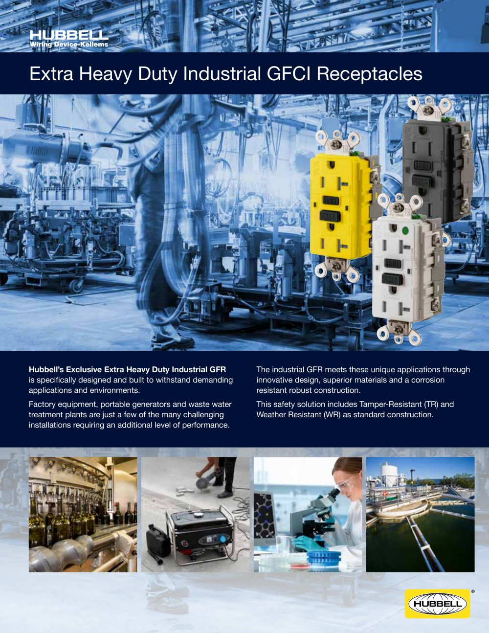 Extra Heavy Duty Industrial Gfci Receptacles Hubbell Pdf Wiring Outlets In Parallel 1 2 Pages