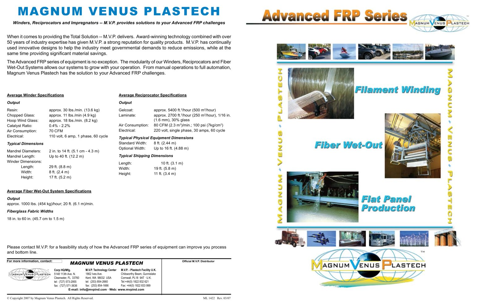 advanced frp series 11x17 brochure ml1422 magnum venus products