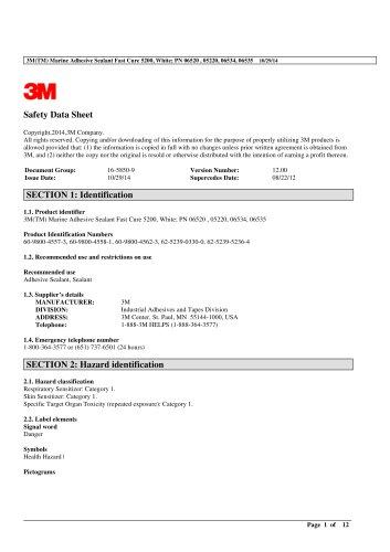 Marine Adhesivie Sealant 5200 Fast Cure