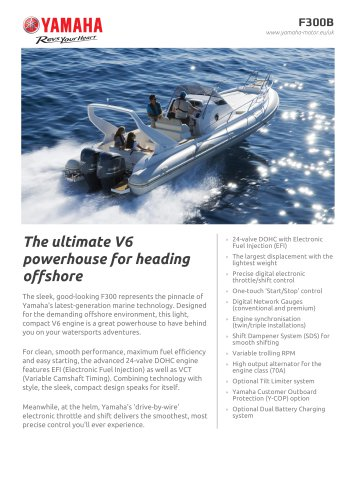 The ultimate V6 powerhouse for heading offshore - Yamaha Motor