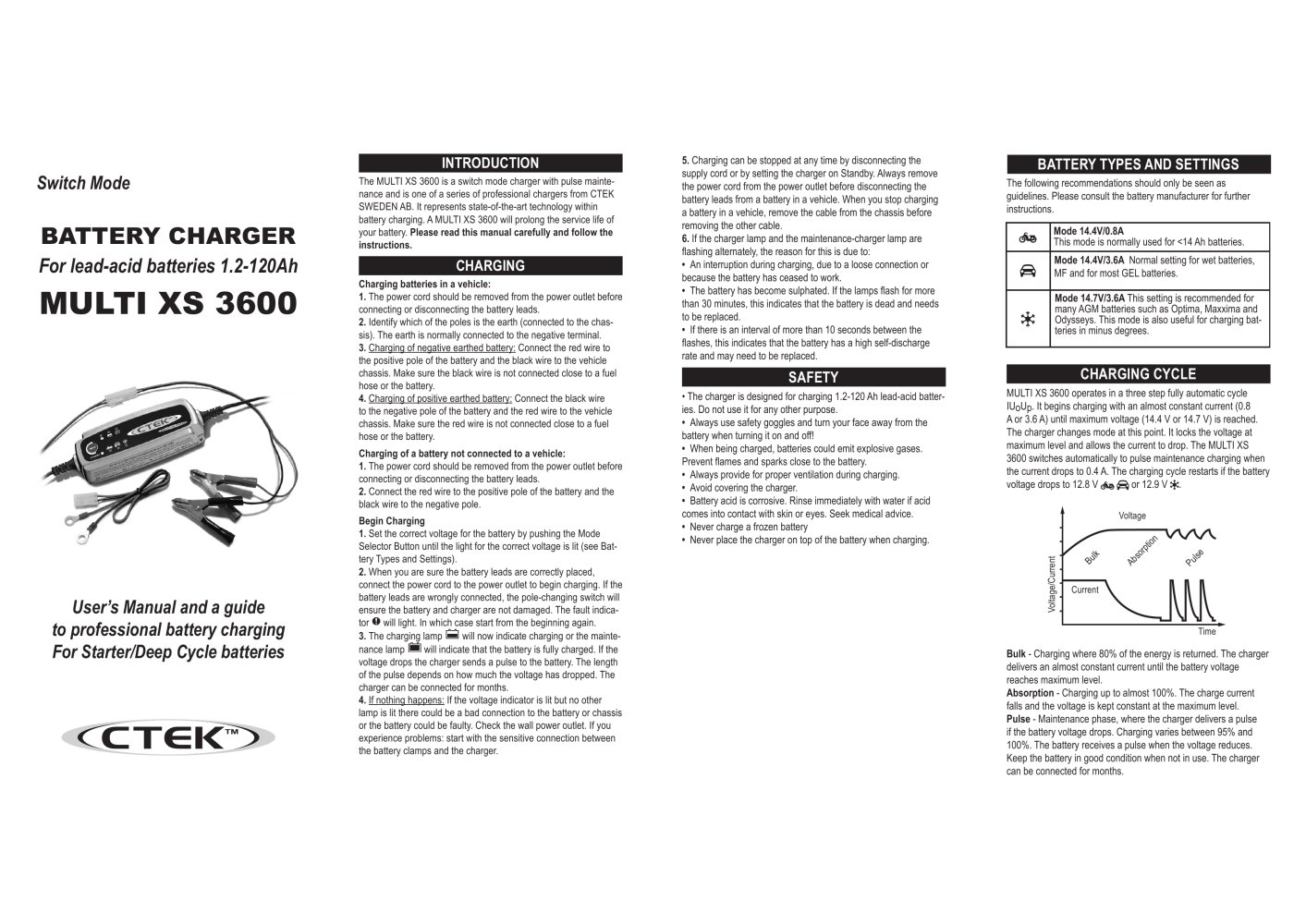 Ctek xs7000 charger user manual by talk audio online issuu.
