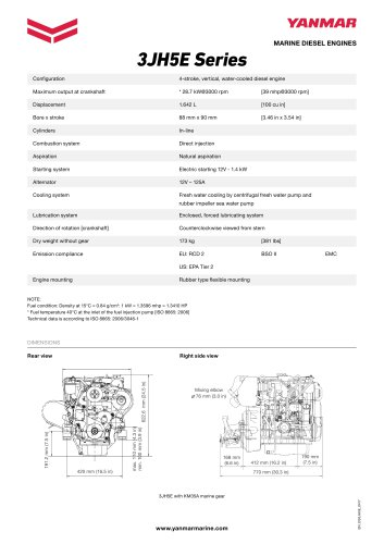 Specification datasheet - 3JH5E