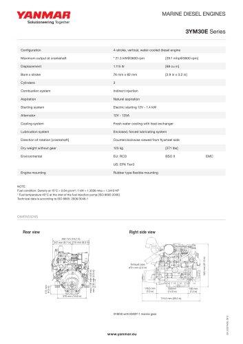 Specification datasheet - 3YM30E