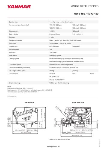 Specification datasheet - 4BY3-150