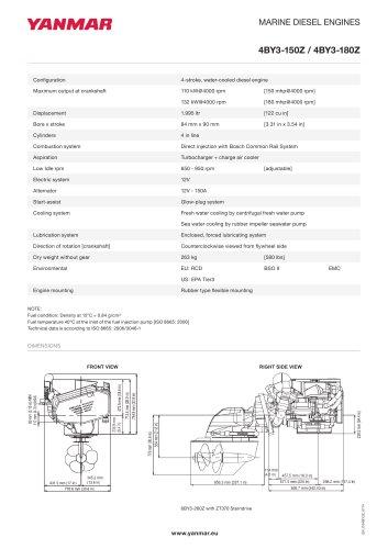 Specification Datasheet - 4BY3-150Z