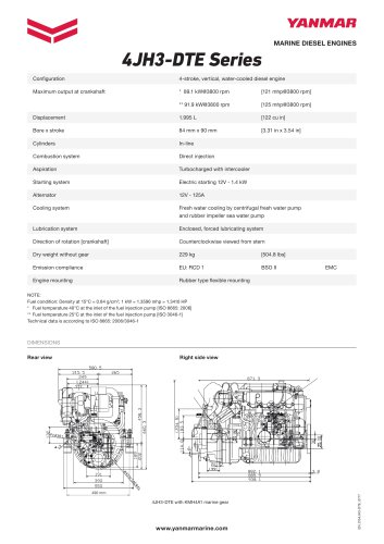 Specification datasheet - 4JH3-DTE