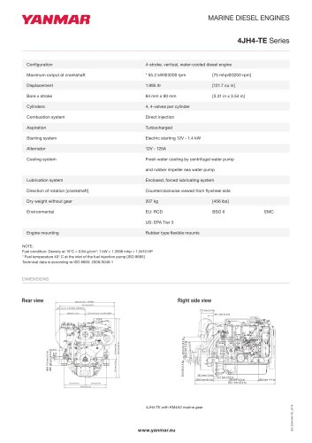 Specification datasheet - 4JH4-TE