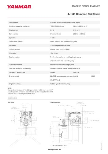 Specification Datasheet - 4JH80 CR