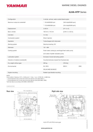 Specification datasheet - 4LHA-HTP