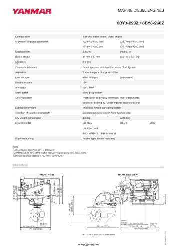 Specification Datasheet - 6BY3-220Z