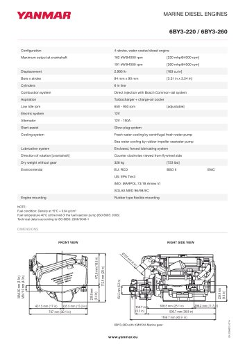 Specification datasheet - 6BY3-260