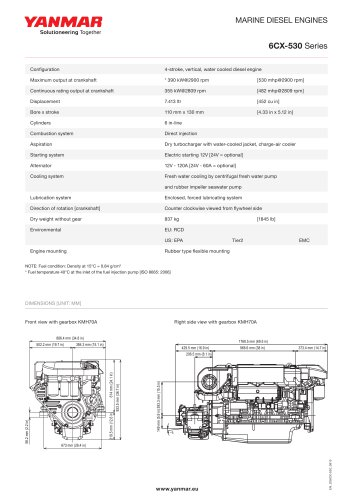 Specification datasheet - 6CX-530