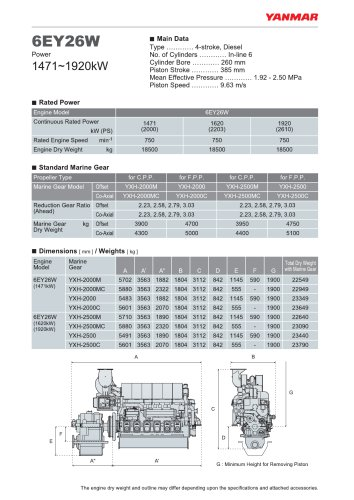 Specification datasheet - 6EY26W