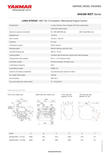 Specification datasheet - 6HA2M-WDT