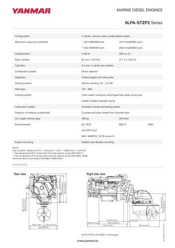 Specification Datasheet - 6LPA-STZP2