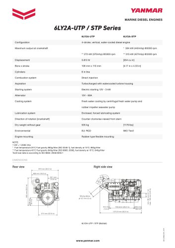 Specification datasheet - 6LY2A-STP
