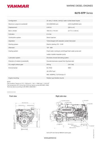 Specification Datasheet - 6LY3-STP