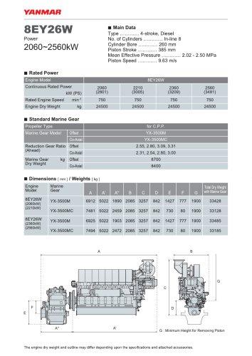 Specification Datasheet - 8EY26W